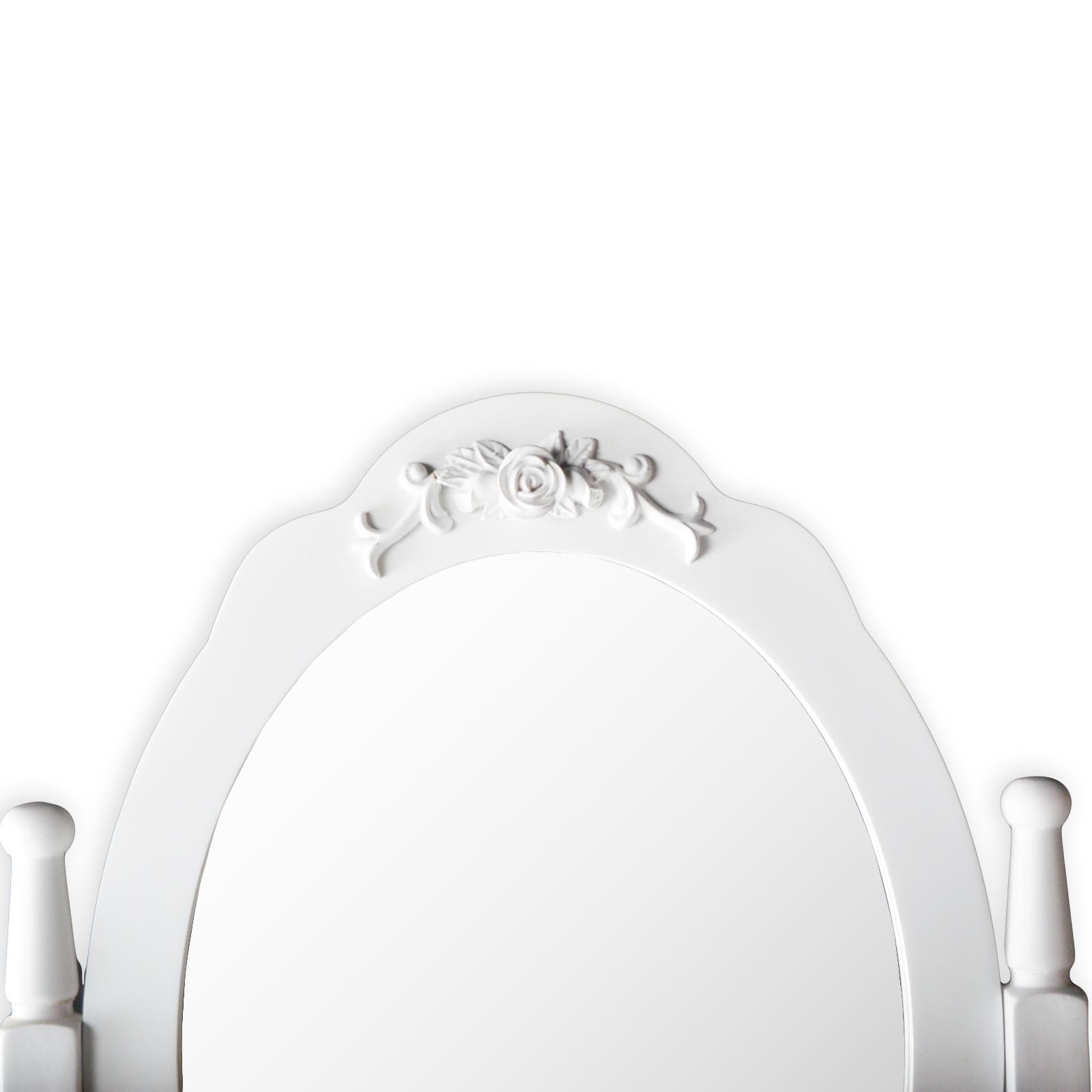 marry schminktisch frisiertisch kosmetiktisch mit spiegel hocker vintage wei ebay. Black Bedroom Furniture Sets. Home Design Ideas