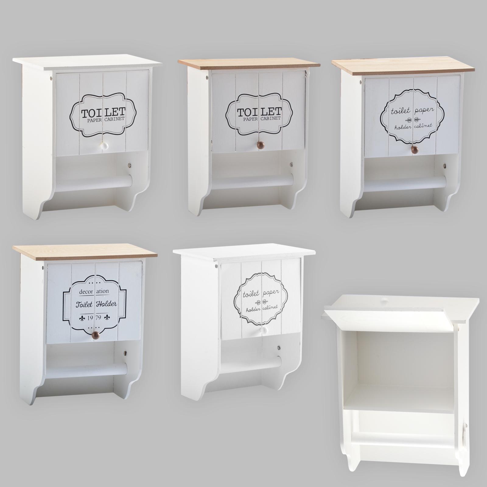 toilettenpapierhalter klopapierhalter rollenhalter shabby chic landhaus holz ebay. Black Bedroom Furniture Sets. Home Design Ideas