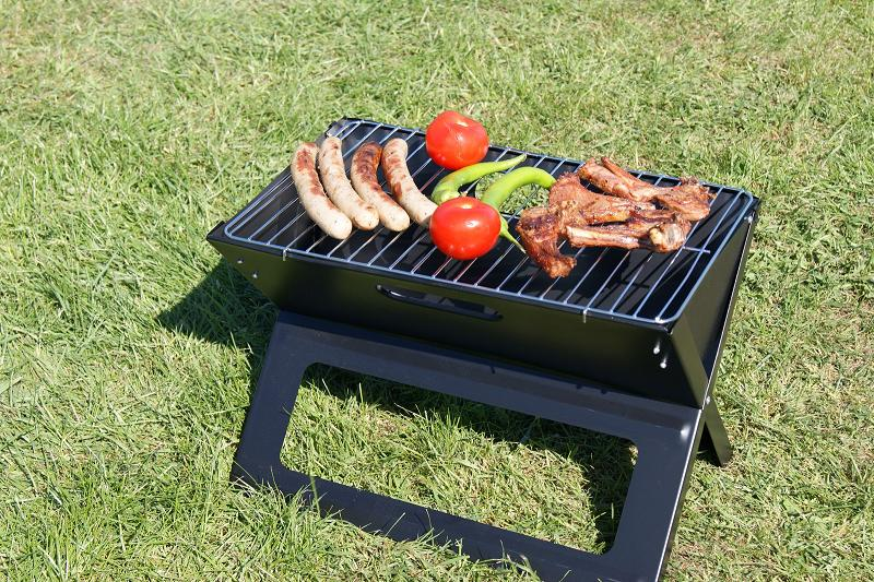 folding grill camping table picnic laptopgrill collapsible barbecue bbq ebay. Black Bedroom Furniture Sets. Home Design Ideas