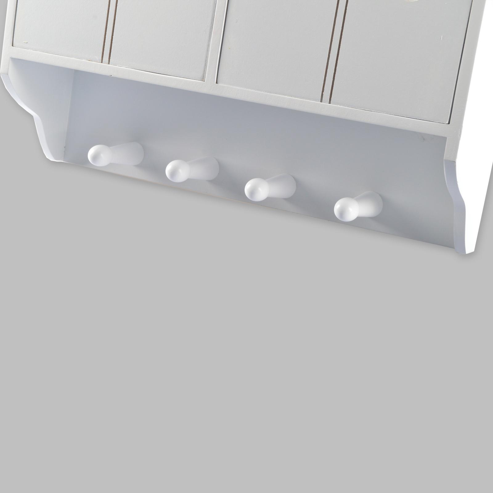 wandschrank 4 haken 4 schubladen 2 glastüren holz küchenschrank