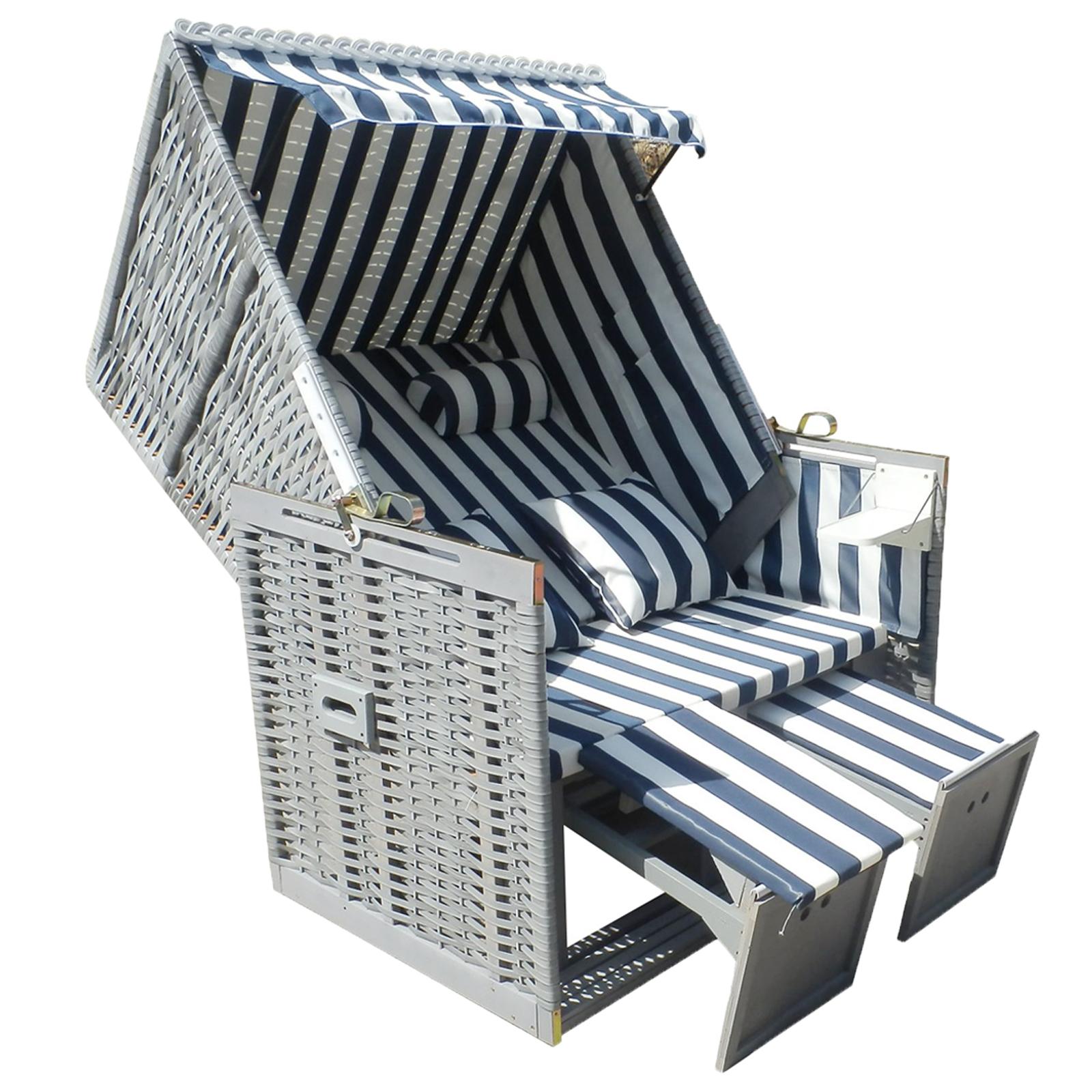 strandkorb xxl grau creme braun mit kuschelkissen. Black Bedroom Furniture Sets. Home Design Ideas
