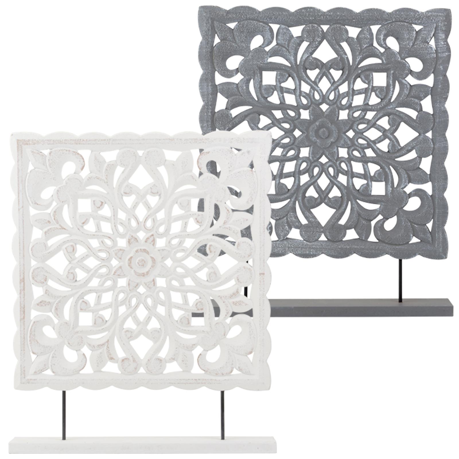 2 farben deko holztafel fensterdeko ornament landhausstil. Black Bedroom Furniture Sets. Home Design Ideas