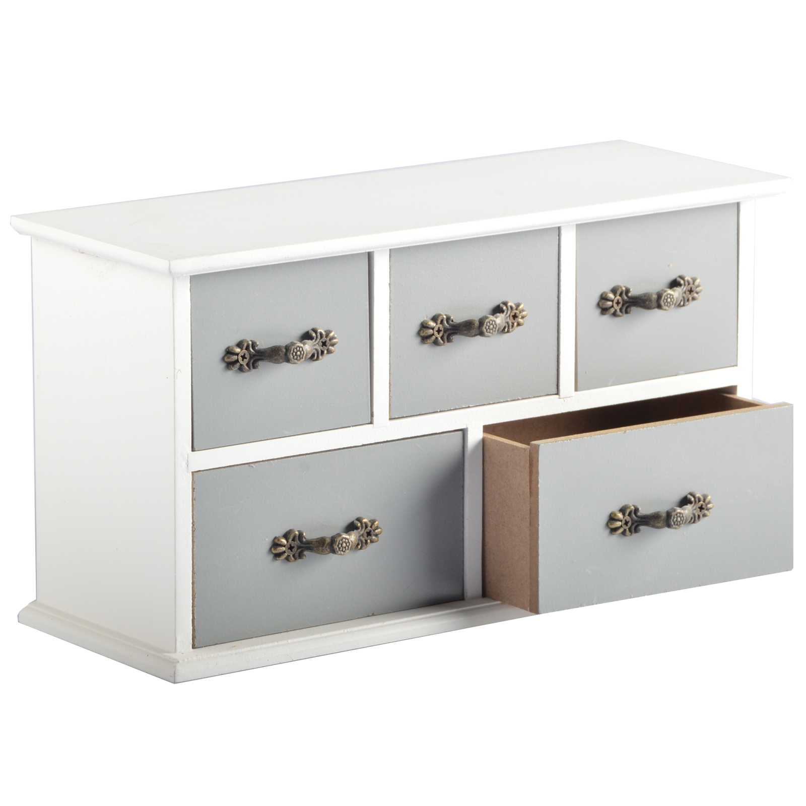 Colors mini chest of drawers metal handles wood