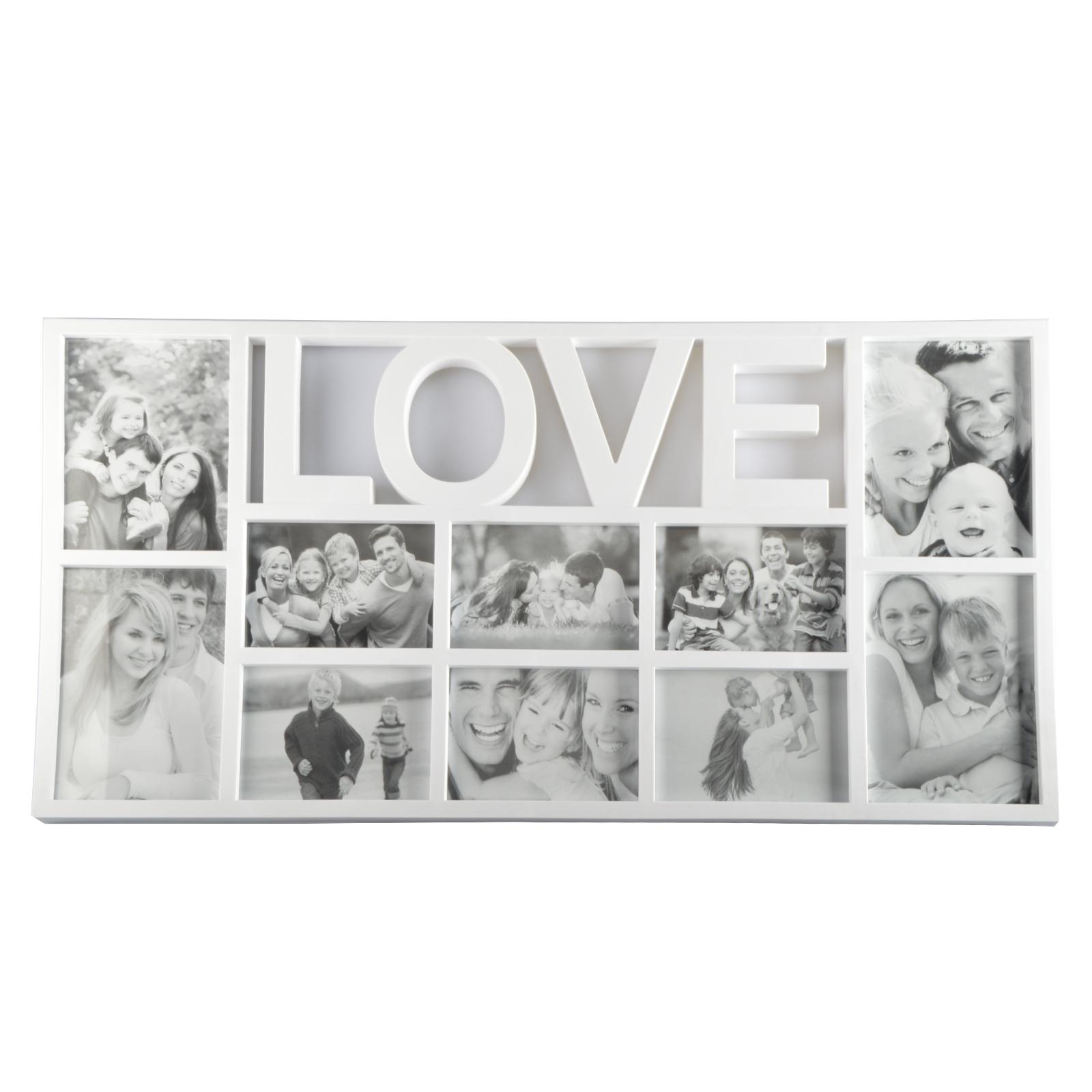 3 modelle 3d bilderrahmen fotorahmen fotocollage collage wei home love friends. Black Bedroom Furniture Sets. Home Design Ideas