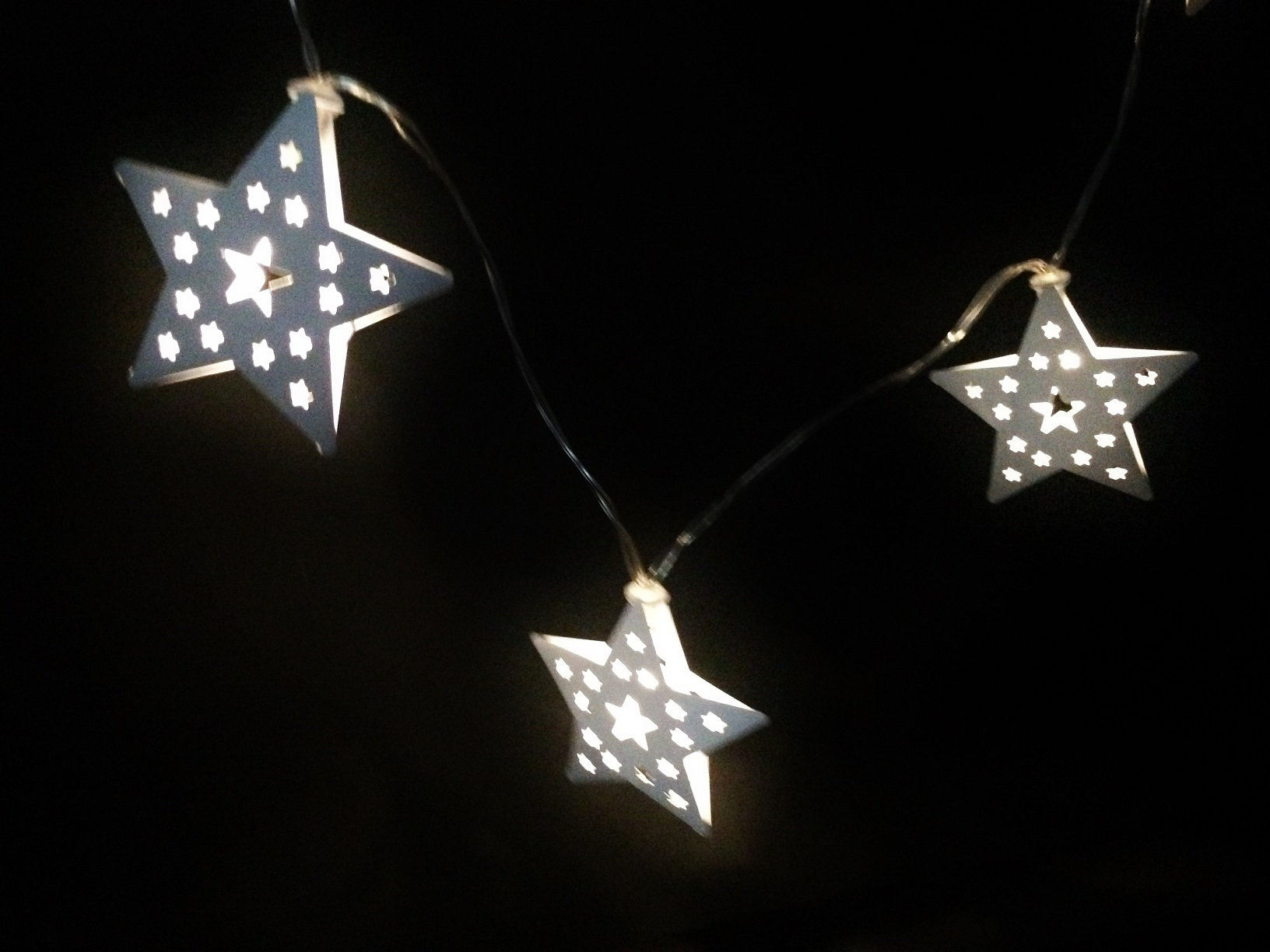10 led lichterkette stern metall lichtergirlande. Black Bedroom Furniture Sets. Home Design Ideas