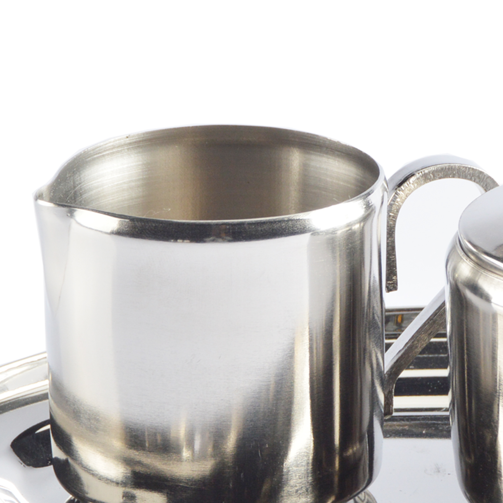 lait jeu de sucre acier inox pot petit pot pot sucre sugar bowl ebay. Black Bedroom Furniture Sets. Home Design Ideas